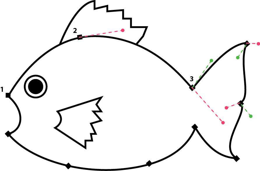 fish shapes to trace